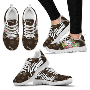 Pitbull Pit Bull Flower - Shoes - Women's Sneakers