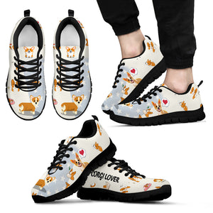 Corgi Dog Lover - Men's Sneakers - Christmas Birthday Gift