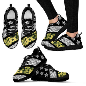 Thin Army Line - Sheos - Black Women's Sneakers