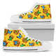 Sunflower Butterfly High Top Shoes