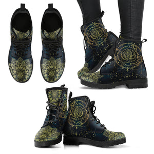 Gold Dream Catcher Handcrafted Women's Vegan-Friendly Leather Boots