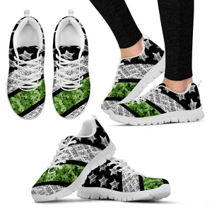 Marine Green Thin Line - Shoes - Women's Sneakers
