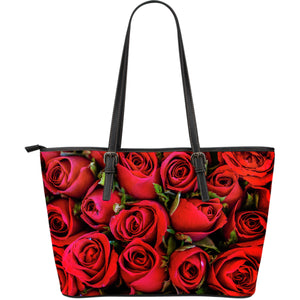 Roses Large Leather Tote