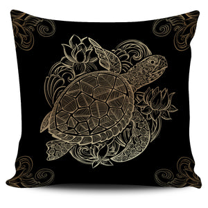 Golden Sea Turtles Pillow Covers - Freedom Look