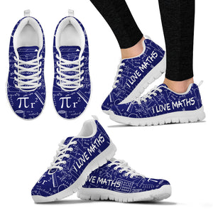 Math Blue Shoes - Women's Sneakers