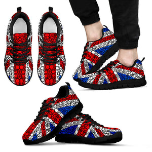 Britain UK Flag Black Shoes - Men's Sneakers