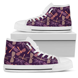 Dragonfly Violet High Top Shoes - Freedom Look
