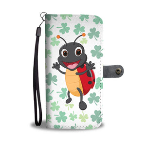 4 Leaf Ladybug Phone Wallet Case - Freedom Look