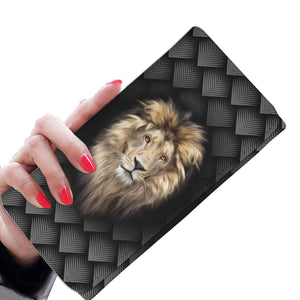 Lion Wallet With Pattern