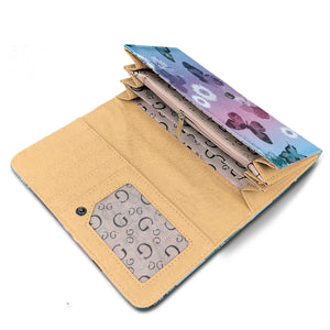 Butterflies & Daisies RFID Security Wallet - Freedom Look