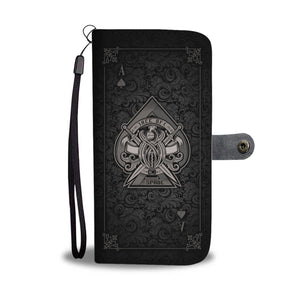 Ace Of Spade Black Phone Wallet Case