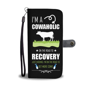 I Am A Cowaholic Phone Wallet Case - Freedom Look