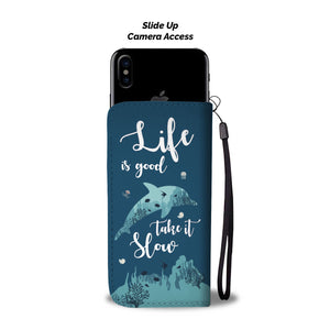 Life Is Good Dolphin Phone Wallet Case