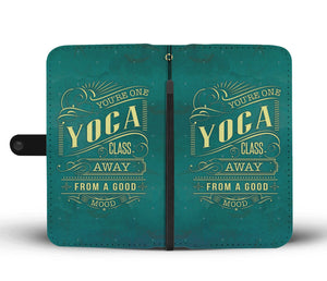 Yoga Good Mood Phone Wallet Case