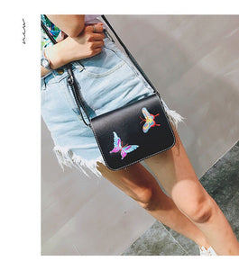 Small Butterfly PU Leather Purse for Summer 2017 - Freedom Look