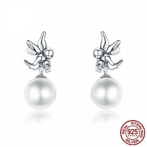 Lovely Angel Pearl Earrings for Woman in Style - Freedom Look