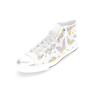 High & Low Top Canvas Women's Shoes - Multicolor Butterflies - Freedom Look