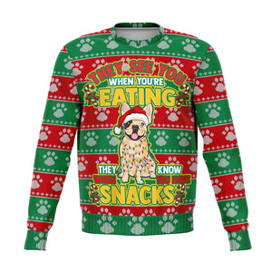 Snacks French Bulldog - Fashion Sweater Sweatshirt AOP