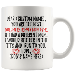 Personalized Best Golden Retriever Dog Mom Coffee Mug (11 oz)