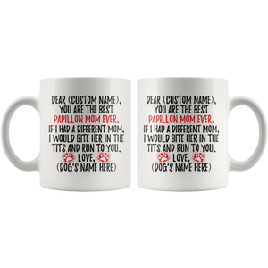 Personalized Best Papillon Mom Coffee Mug (11 oz)