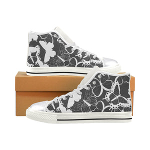 Black Butterfly High Top & Low Top Shoes - Freedom Look