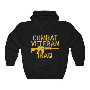 Army Military Combat Veteran Iraq Brave Soldiers Appreciation Unisex Hoodie