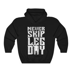 Leg Muscle Fitness Therapy Unisex Hoodie Never Skip Leg Day Hooded Sweatshirt