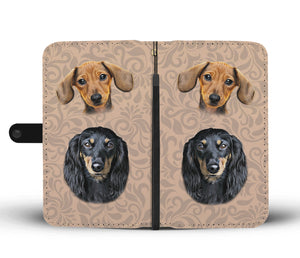 Dachshund Wallet Phone Case - Freedom Look