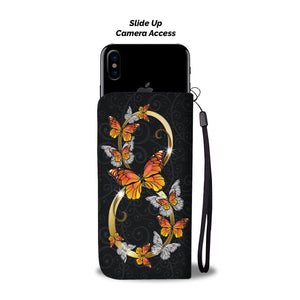 Premium Hand Crafted Monarch Infinity Butterfly Phone Case + Wallet
