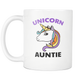 Unicorn Auntie Mug - Best Auntie Ever Coffee Mug - I Love Auntie Mug - Worlds Greatest Auntie - Great Gift For Your Aunt (11 oz)