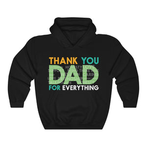 Thank You Dad With Kind Words - Father's Day Men Daughter & Son To Dad Hoodie