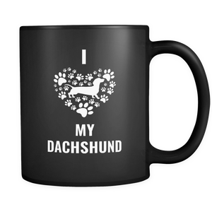 I Love My Weiner Dog Mug - Doxin Dog Stuff - Weeny Dog Lovers - Great Gift For Daschund Owner - Freedom Look