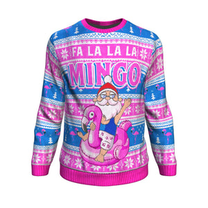 Santa & Flamingo Ugly Christmas Sweatshirt