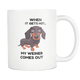 Weiner Dog Heat Sensitive Mug - Color Changing Weiner Dog Mug - Perfect Gift For Wiener Owner - When It Gets Hot My Weiner Comes Out (Color Changing)