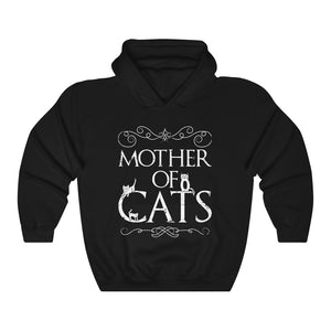 Mother Of Cats Lover Kitty Mom Hoodie Kitties Hooded Sweatshirt