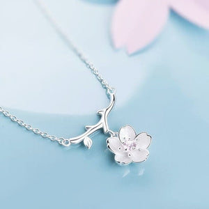 925 Sterling Silver Necklace with Flower Pendant - Freedom Look