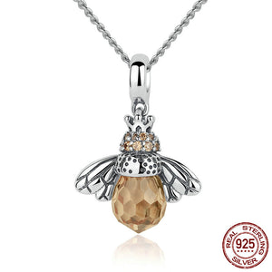 Lovely Bee Ring & Pendant Necklace - Sterling Silver - Freedom Look