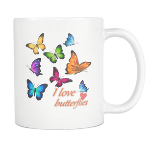 I Love Butterflies Mug - Freedom Look