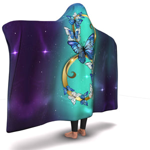 Infinity Butterfly Galaxy Hooded Blanket (SB)