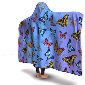Colorful Butterflies Hooded Blanket (S) - Freedom Look