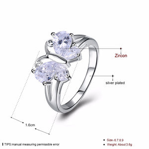Butterfly Silver Color Ring - FREE SHIPPING - Freedom Look