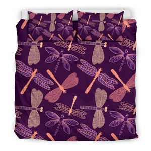 Dragonfly Violet Bedding Cover Set - Freedom Look