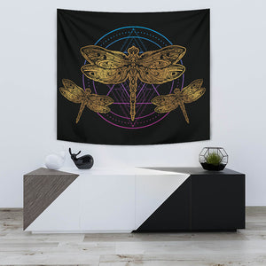 Golden Dragonfly Tapestry - Freedom Look