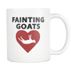 Fainting Goats Coffee Mug - Fainting Goats Owner Gifts - I (Heart) Love My Goat - I Like Goats - Funny Gift For Goat Owners (Mom Dad Brother Sister) (11 oz) - Freedom Look