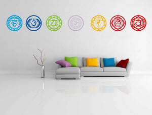 7 Chakra Stickers Art Wall Decoration - Freedom Look