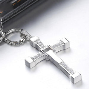 Pay 1 Get 3 - Silver Cross Jesus Pendant Necklace For Men & Women - Freedom Look
