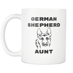 German Shepherd Aunt Coffee Mug - Dog Aunt Mug - Best Dog Auntie Mug - Great Gift For Aunt (11 oz) - Freedom Look
