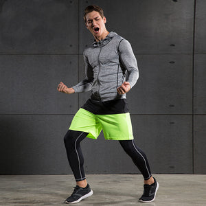 Long Sleeve Men's Running / Fitness Reflective Zipper - Breathable & Quick-Drying - Freedom Look
