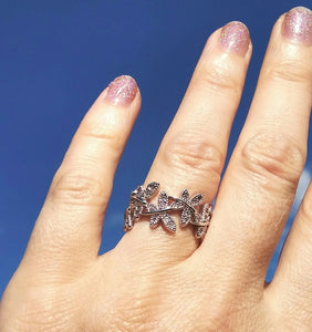Elegant Butterfly & Flower Ring - Freedom Look