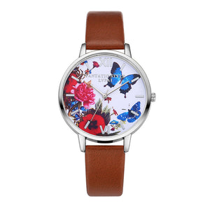 Butterfly Leather Quartz Watch (HOT seller 2017) - Freedom Look